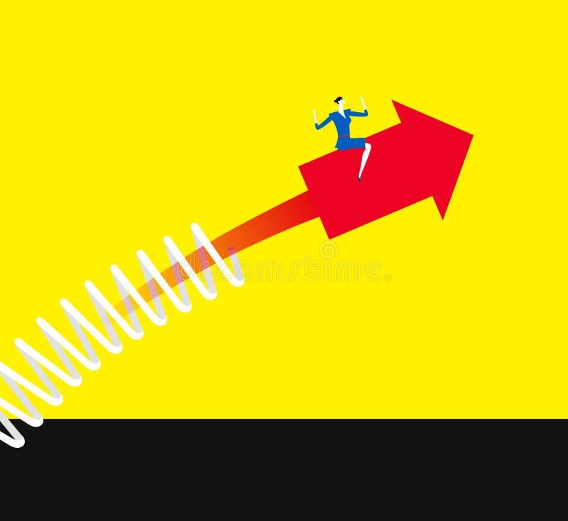 Make an arrow upward. royalty free illustration