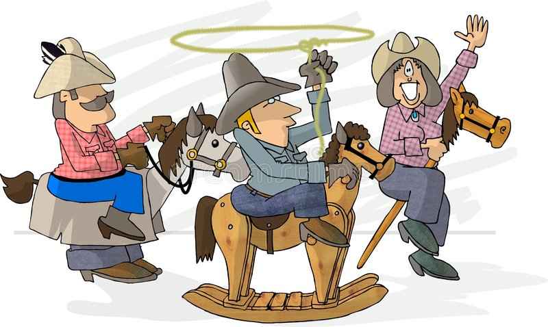 Make Believe Rodeo vector illustration