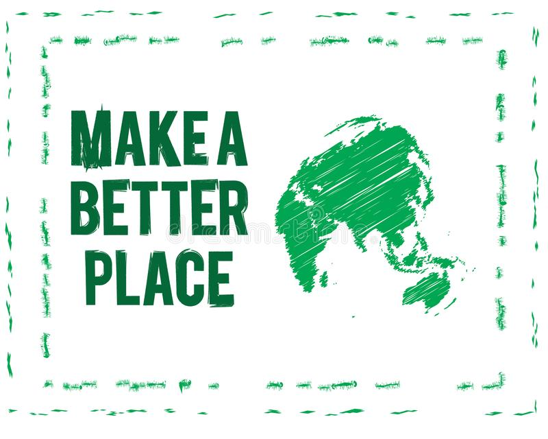 Make a better place icon vector illustration