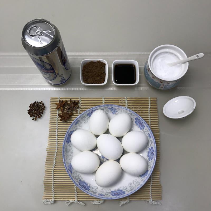 Make brine eggs stock photography