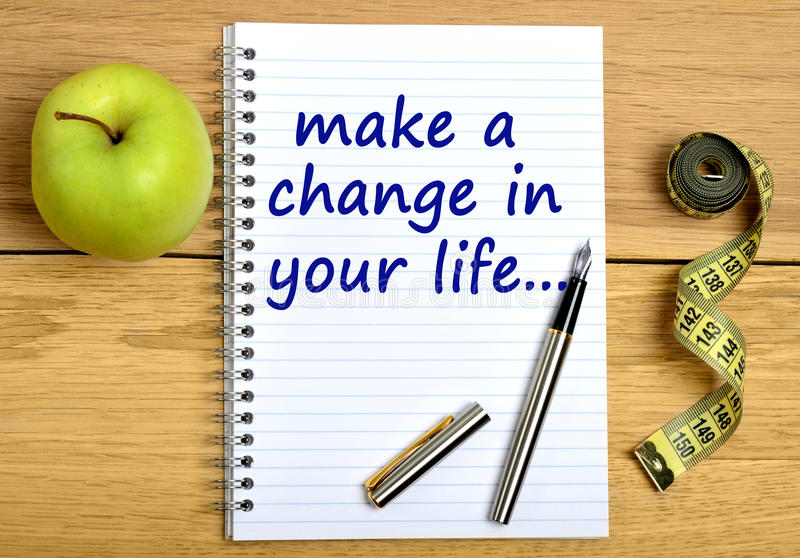 Make a change in your life royalty free stock photos