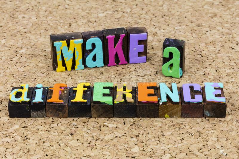 Make difference change chance succeed leadership concept career solution success stock photography