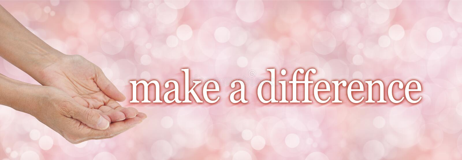 Make a difference charity campaign background stock photo