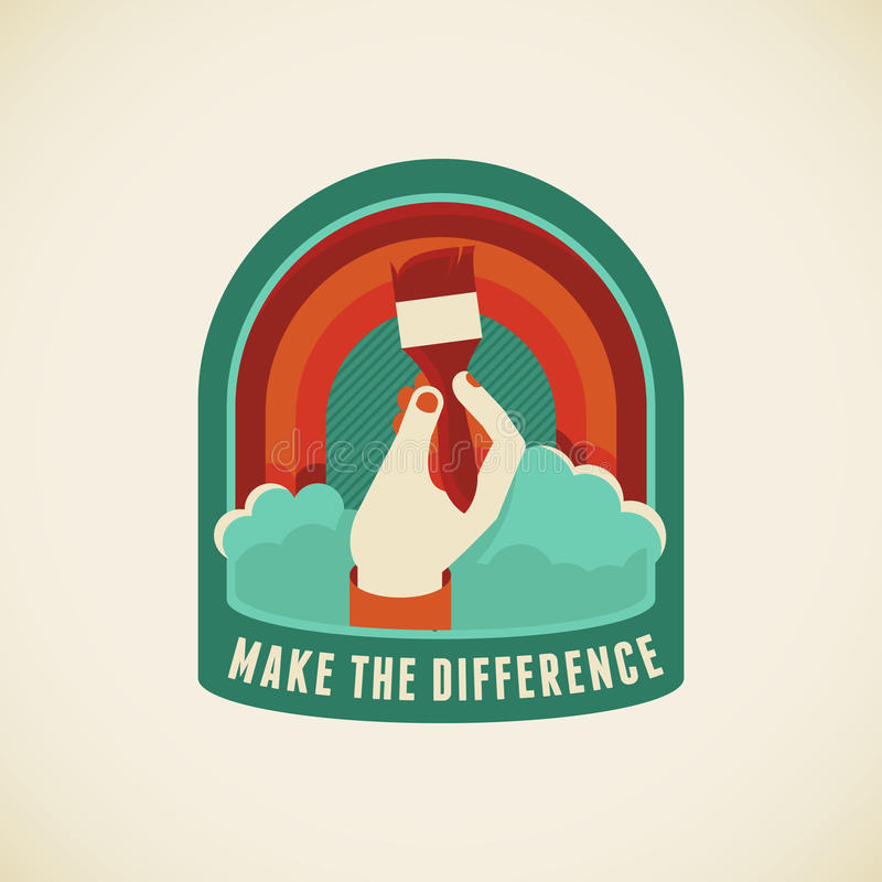Make the difference vector illustration