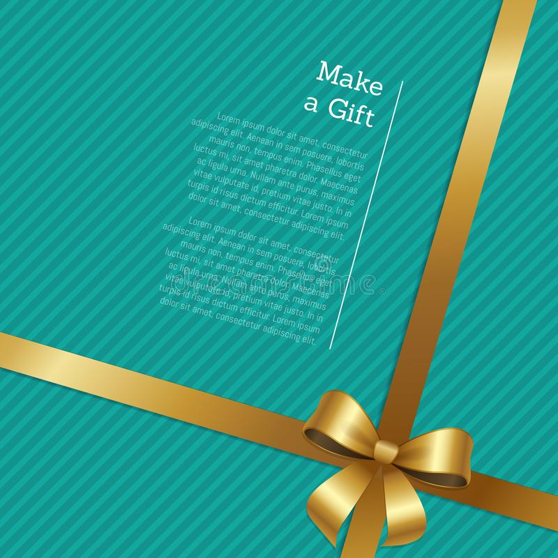 Make A Gift Certificate Or Greeting Card Design Stock Vector ...