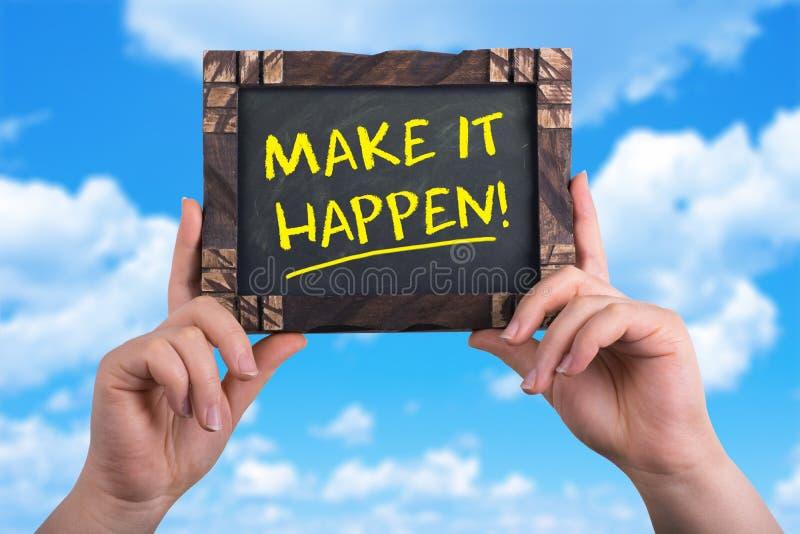 Make it happen royalty free stock image