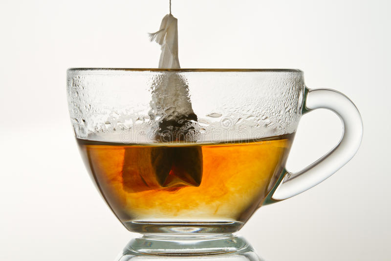 Make a hot tea isolated stock photo
