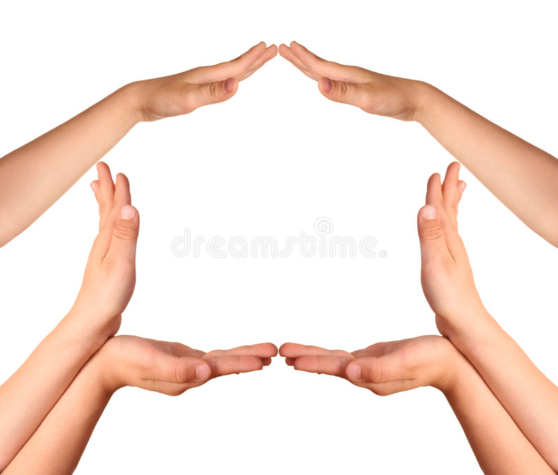 Make house gesture royalty free stock images