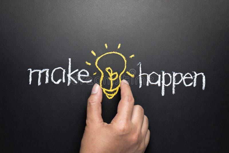 Make idea happen stock images