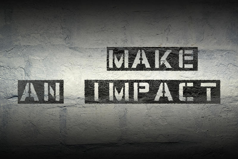 Make an impact gr stock photography