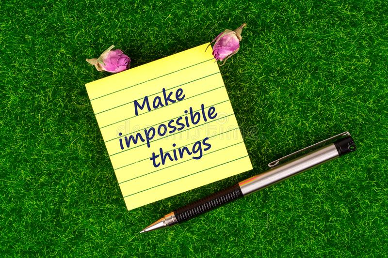 Make impossible things royalty free stock photo
