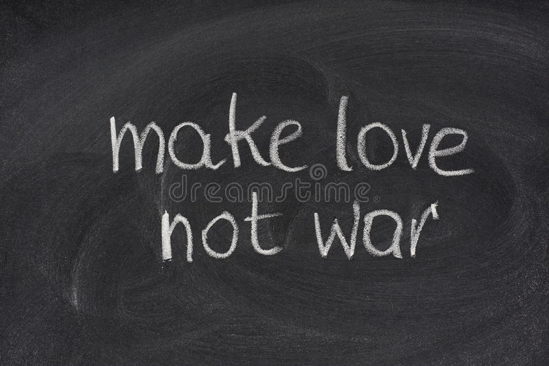 Make love not war on blackboard
