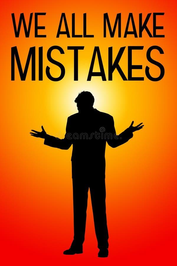 Make mistakes stock illustration