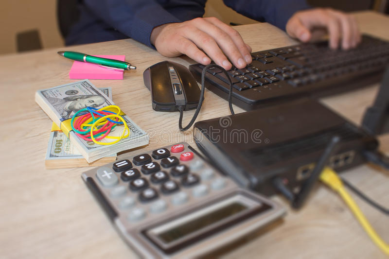 Make money from home everyday. Financial concept. Make money on the Internet. Make money from home everyday. Business proposal pictures. Financial concept. Make stock photography