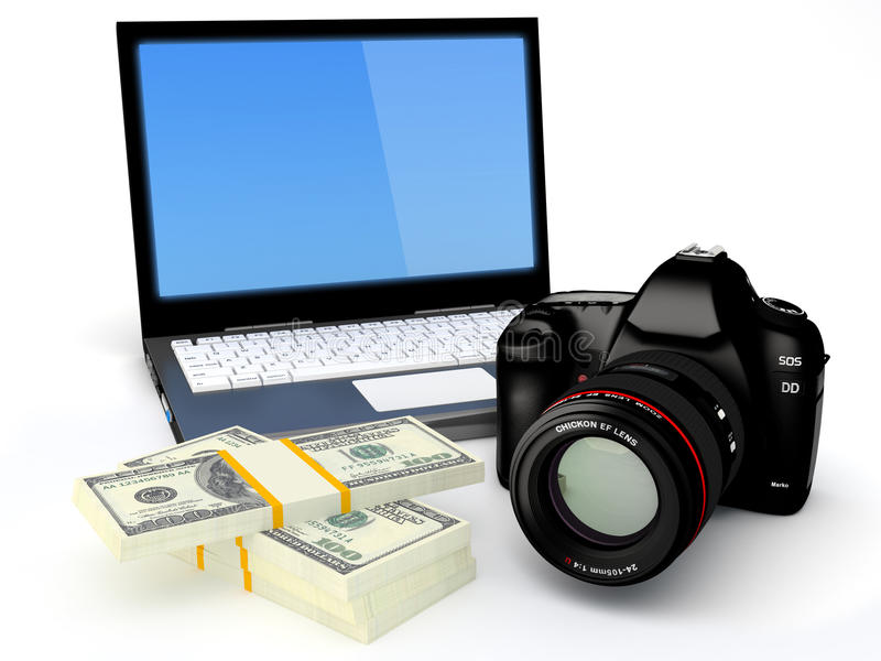 Download Make money with your photo stock illustration. Image of camera - 27877199