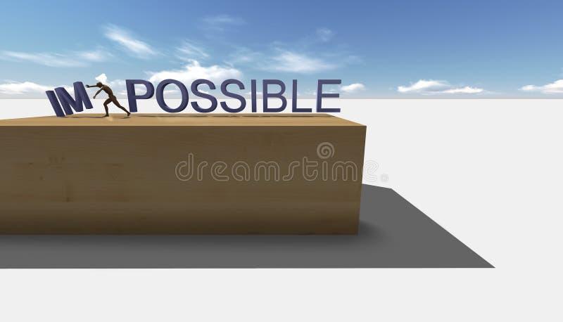 Make it possible. Motivational concept stock illustration