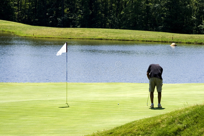 Make The Putt royalty free stock photography