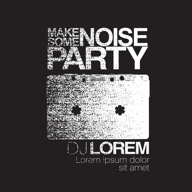 Free Make Some Noise. Night Party Flyer. Black And White. No Signal Background. Vector Illustration Stock Photography - 210592492