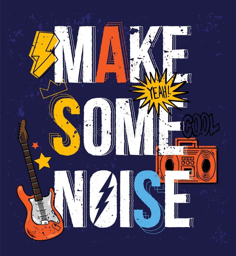 Free Make Some Noise Print Design Stock Photo - 170239160