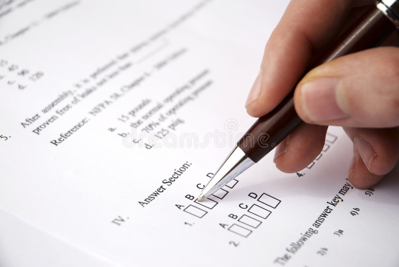 Make a test exam stock photos