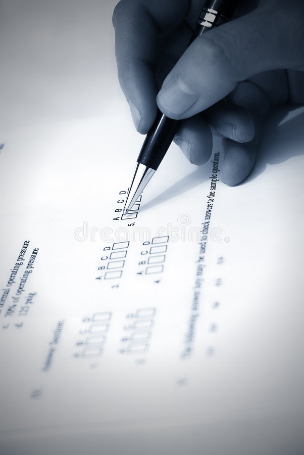 Make a test exam royalty free stock photo
