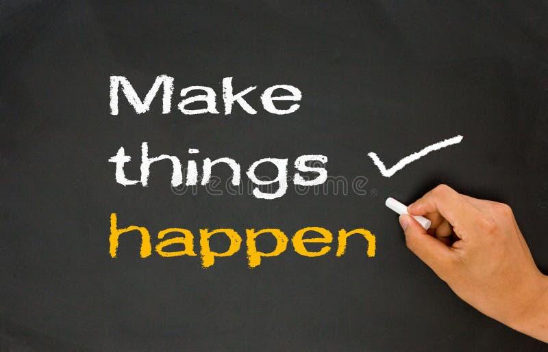 Make things happen royalty free stock image