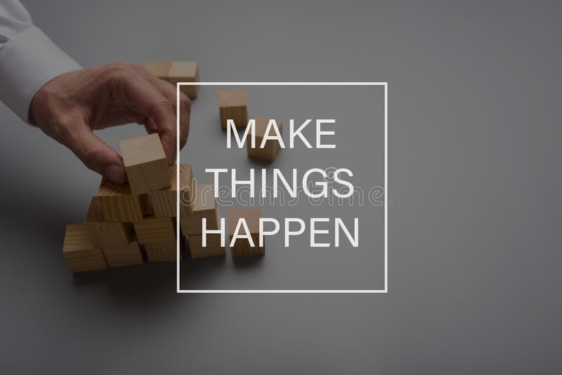 Make things happen stock images