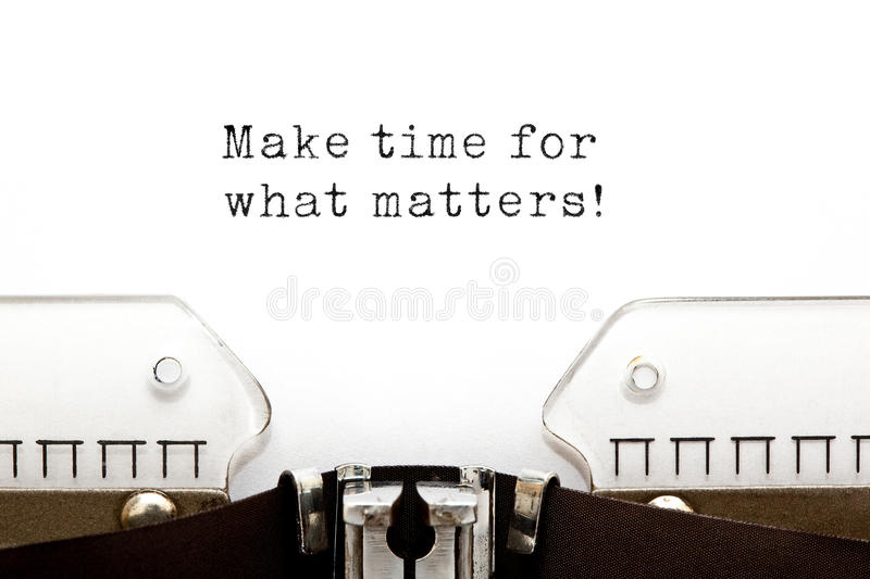 Make Time For What Matters stock photo