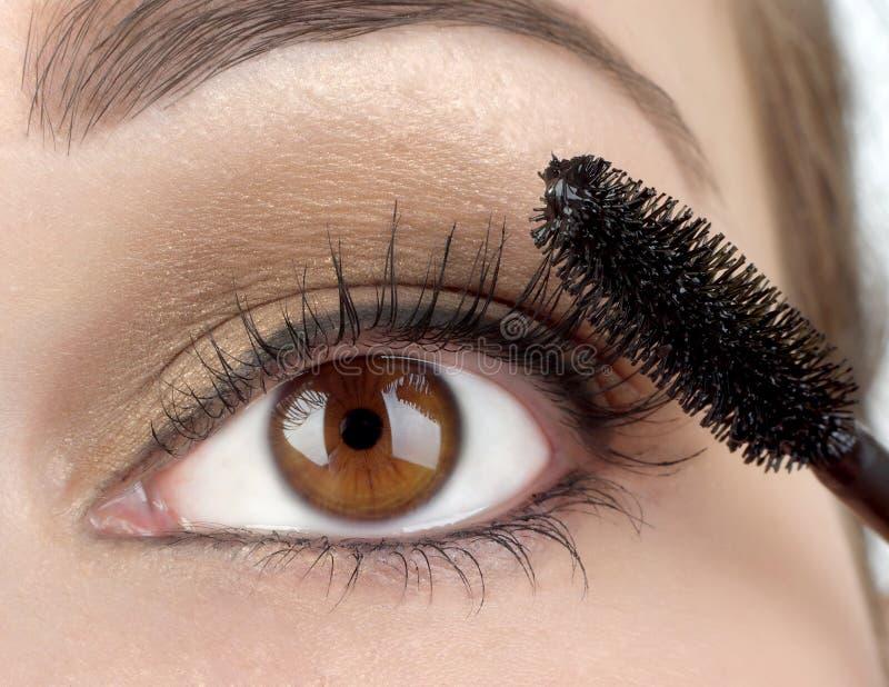 Make up. With human eyes stock photos