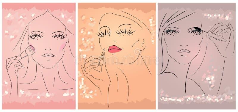 Make up royalty free illustration