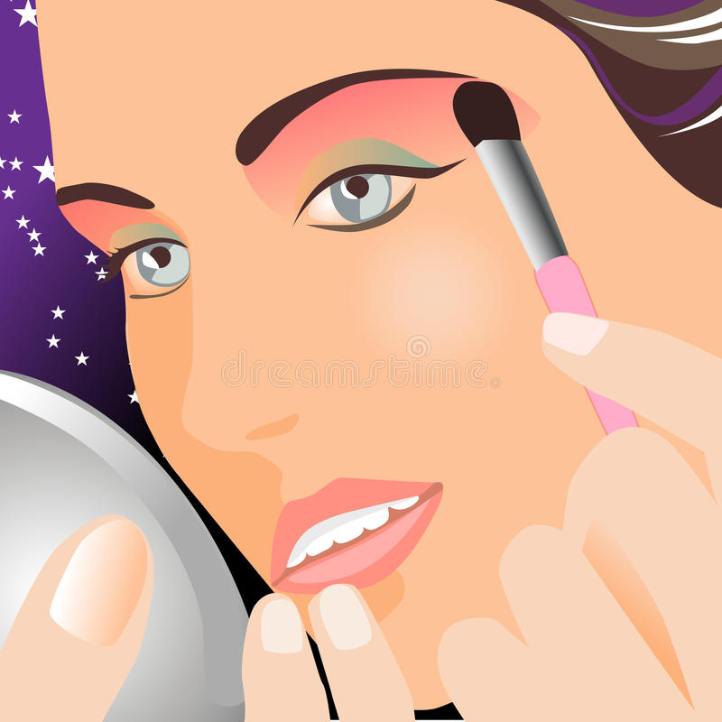 Download Make-up stock vector. Image of lady, lashes, nails, care - 21139732