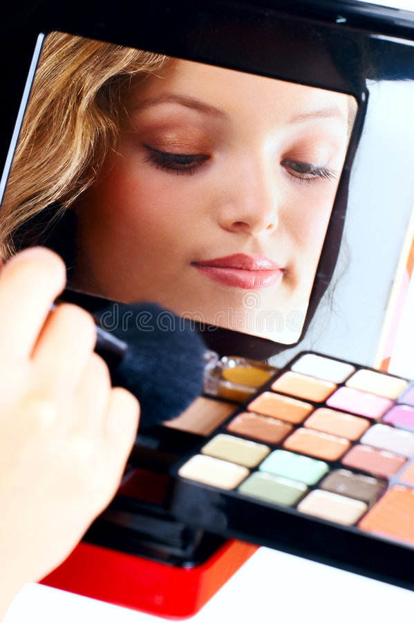 Download Make up stock photo. Image of isolated, apply, face, lipstik - 2313818
