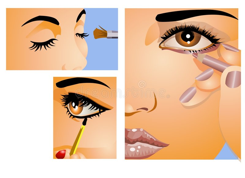 Download Make -Up stock vector. Image of lips, dress, lady, fingers - 5705455