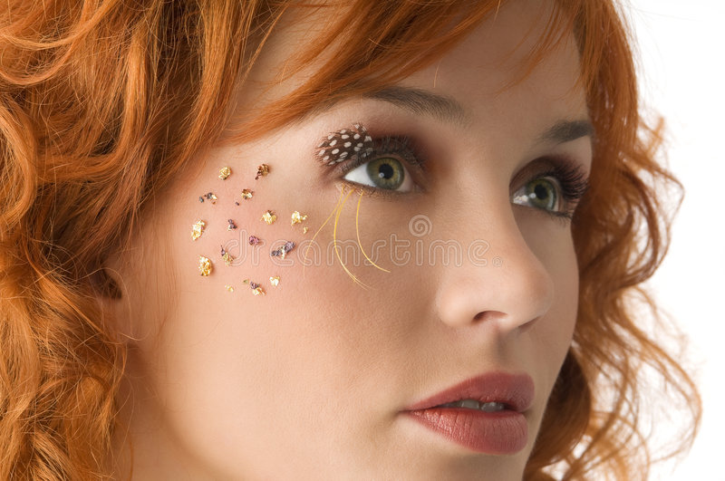 The make up royalty free stock photography