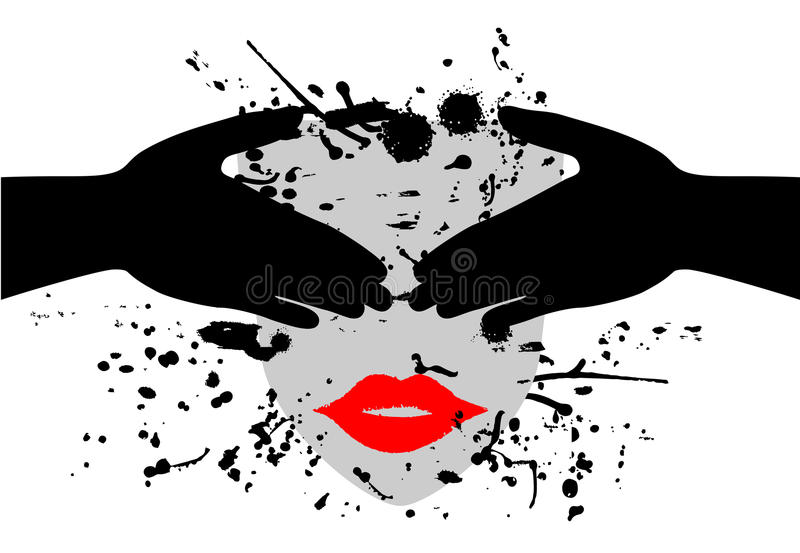 Download Make up abstract stock vector. Illustration of lips, design - 25192708