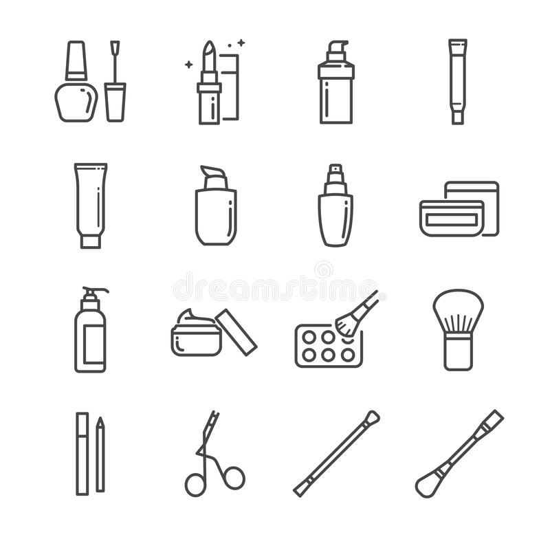 Free Make-up And Cosmetic Line Icon Set 2. Included The Icons Royalty Free Stock Photography - 102462627