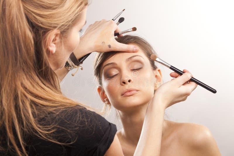 Make-up artist royalty free stock photos
