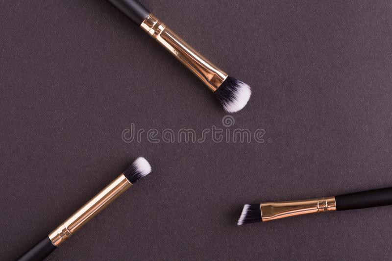 Make-up b?rstet Nahaufnahme stockbilder