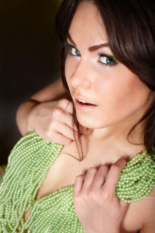 Download Make up of beautiful girl. stock photo. Image of girl - 14695244