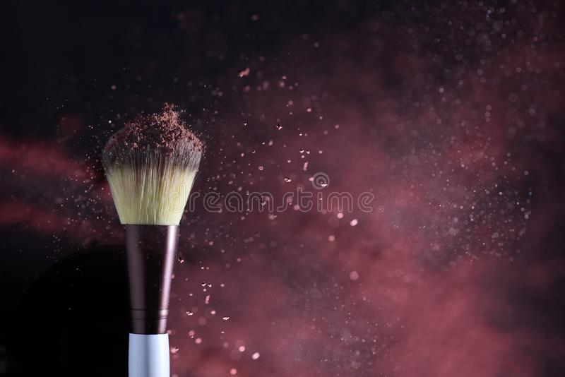Moody and chic make up brushes stock images