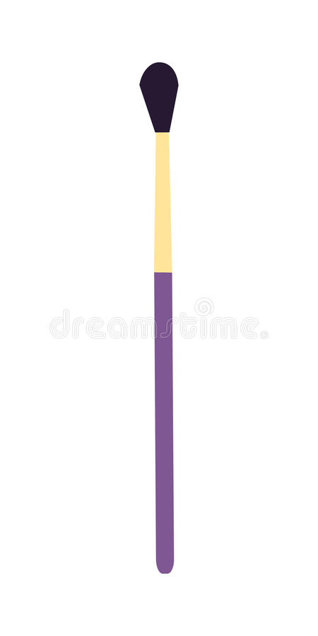 Make Up Brush stock illustration