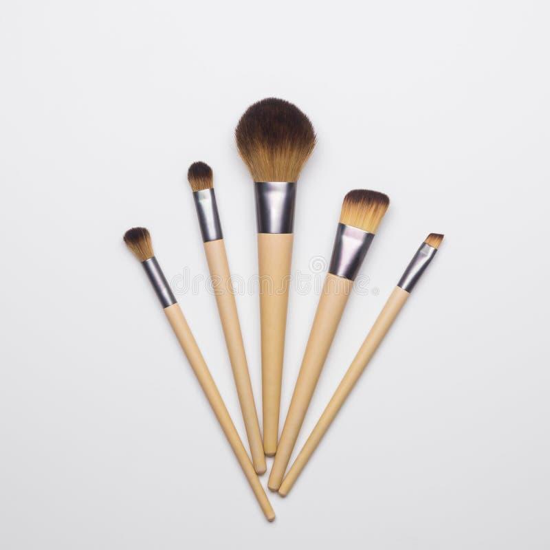 Make up brush isolated on white background. Make up brushes isolated on white background stock images