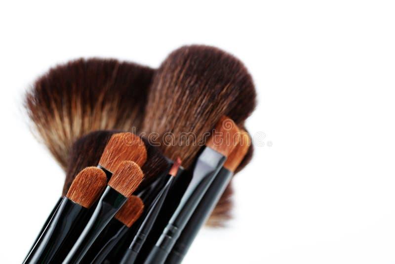 Make-up brushes royalty free stock photos