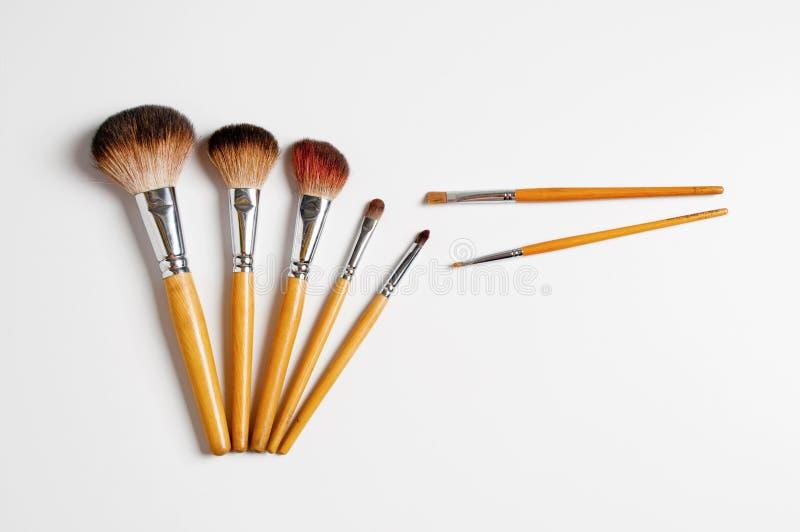 Make-up brushes. Makeup brush (make-up artists use stock image