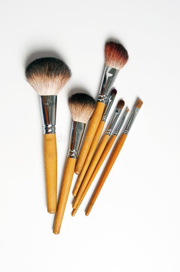 Make-up Brushes. Professional make-up brushes(Professional make-up artists use royalty free stock photos
