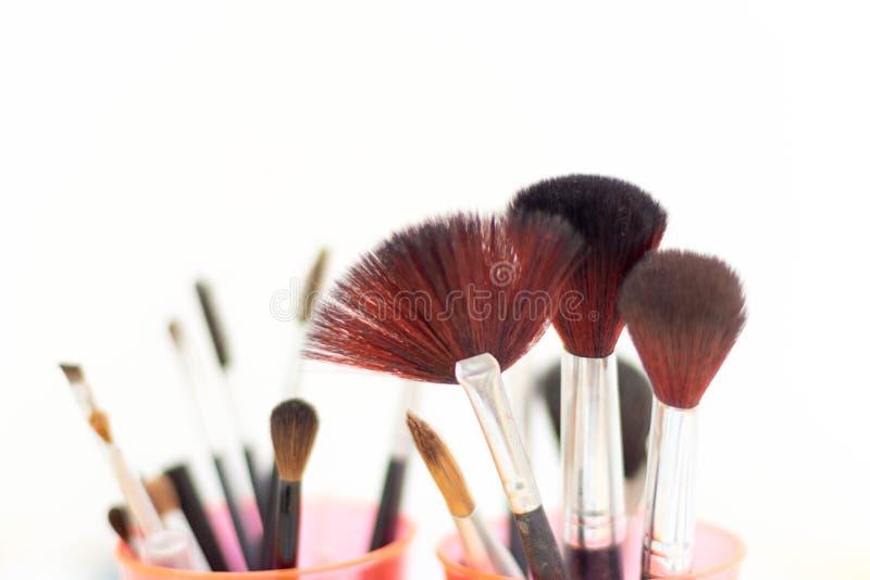 Make up brushes stock photos