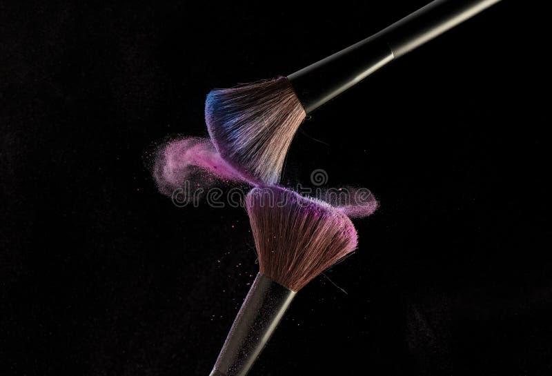 Make-up brushes stock image