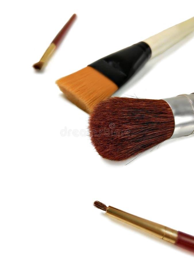 Make-up brushes royalty free stock image
