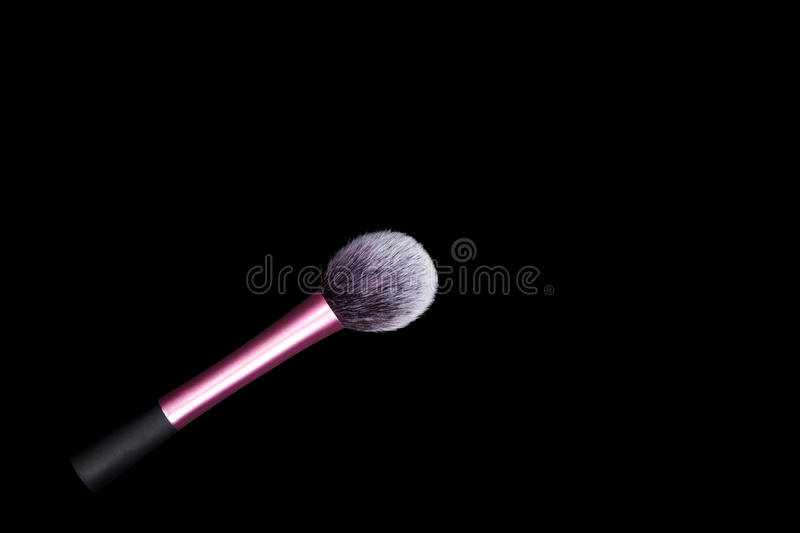 Download Make-up Brushes With On Pure  Black Background. Stock Photo - Image: 83722556