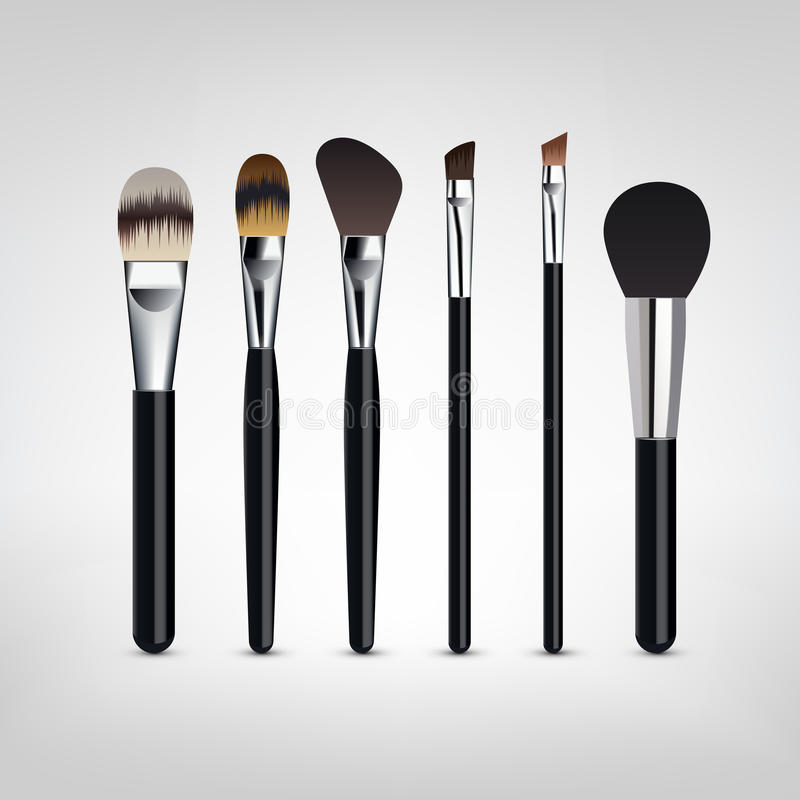 Make-up brushes vector royalty free stock image